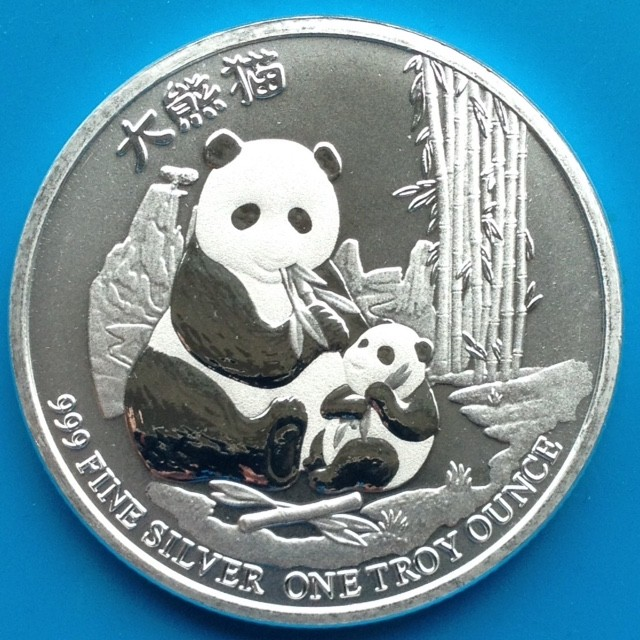 """1 oz Silber Niue """" Panda """" 2017 ( diff.besteuert nach §25a UStG )"""