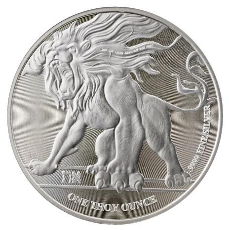 """1 oz Silber Niue """"  Löwe von Judah """" 2019  ( diff.besteuert nach §25a UStG )"""
