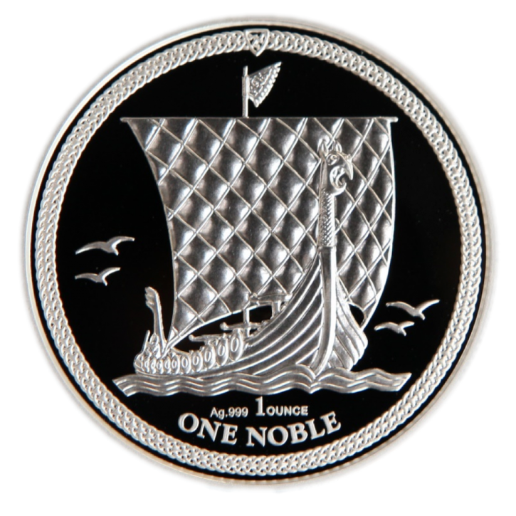 "1 oz Silber Isle of man PU  "" Noble "" 2018 in Kapsel - max. Auflage 15.000  ( diff.besteuert nach §25a UStG )"
