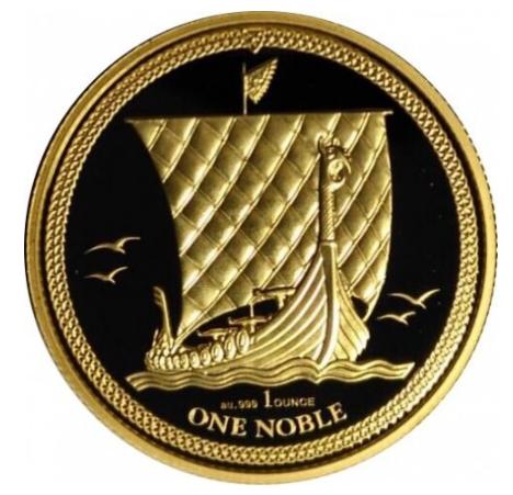 """1 oz Gold Isle of man """" Noble 2018 """" - max Auflage 100"""