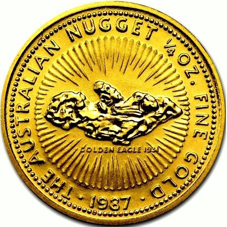 1/10 oz Gold Nugget in Kapsel ( 1987 - 89 )