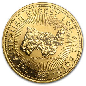 "1 oz Gold "" Nugget "" Perth Mint 1987  in Kapsel"