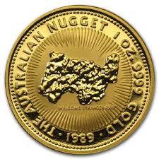 "1 oz Gold "" Nugget "" Perth Mint 1989 in Kapsel"