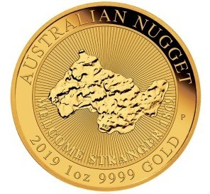 "1 oz Gold "" Welcome Stranger - Nugget "" Perth Mint 2019 in Kapsel - max 7.500"