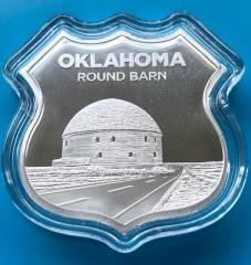 """1 oz Silber Icon of Route 66 in Kapsel """" Round Barn / Oklahoma """" ( 19% Mwst )"""