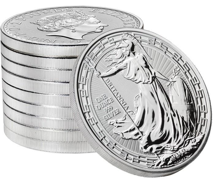 """1 oz Silber Britannia """" Oriental Border 2019 """" max. Mintage 50.000 ( diff.besteuert nach §25a UStG )"""