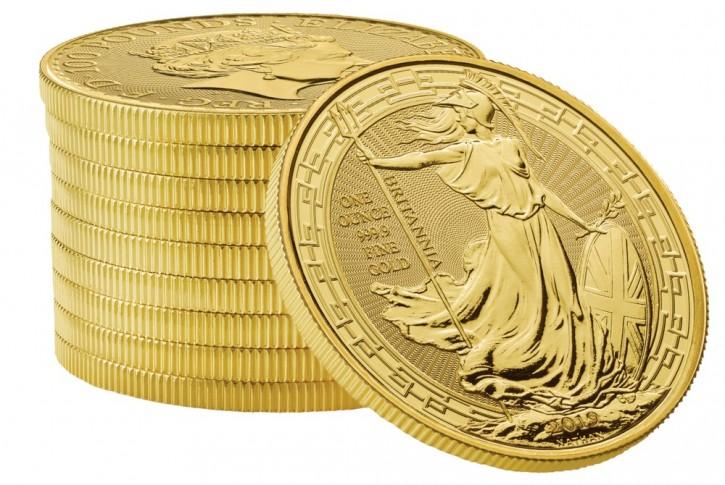 "1 oz Gold Grossbritannien Britannia "" Oriental Border "" 2019 - max. 5000"