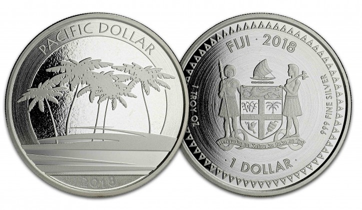 "1 oz Silber Fiji "" Pacific Dollar "" Scottsdale Mint "" ( diff.besteuert nach §25a UStG )"