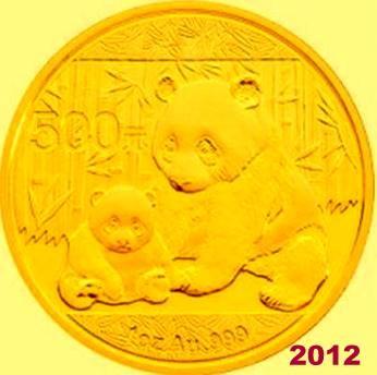 1 oz Gold Panda 2012 in Folie