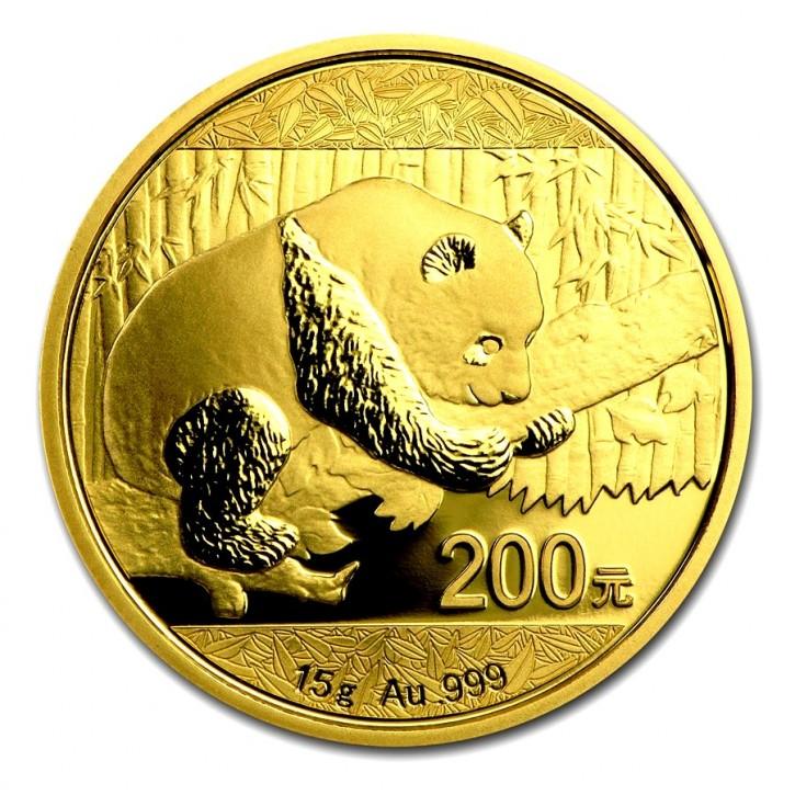 15 Gramm Gold Panda 2016 in Folie - 200 Yuan
