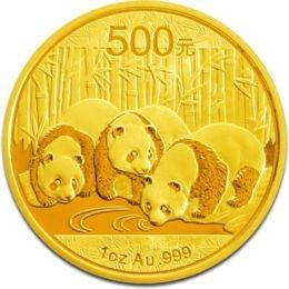1 oz Gold Panda 2013 in Folie