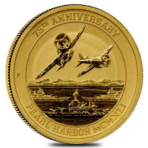 1 oz Gold Pearl Harbor in Kapsel Perth Mint