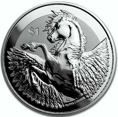 "1 oz Silber British Virgin Islands "" Pegasus 2018 "" Reverse Frosted  ( diff.besteuert nach §25a UStG ) LZ Anfang April"