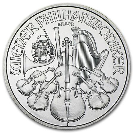 1 oz Silber Philharmoniker div. Jahre / ggf. angelaufen ( diff.besteuert nach §25a UStG )