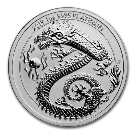 """1 oz Platin Perth Mint """" Dragon """" in Kapsel - max 2.500 Mintage ( inkl. 19% Mwst )"""