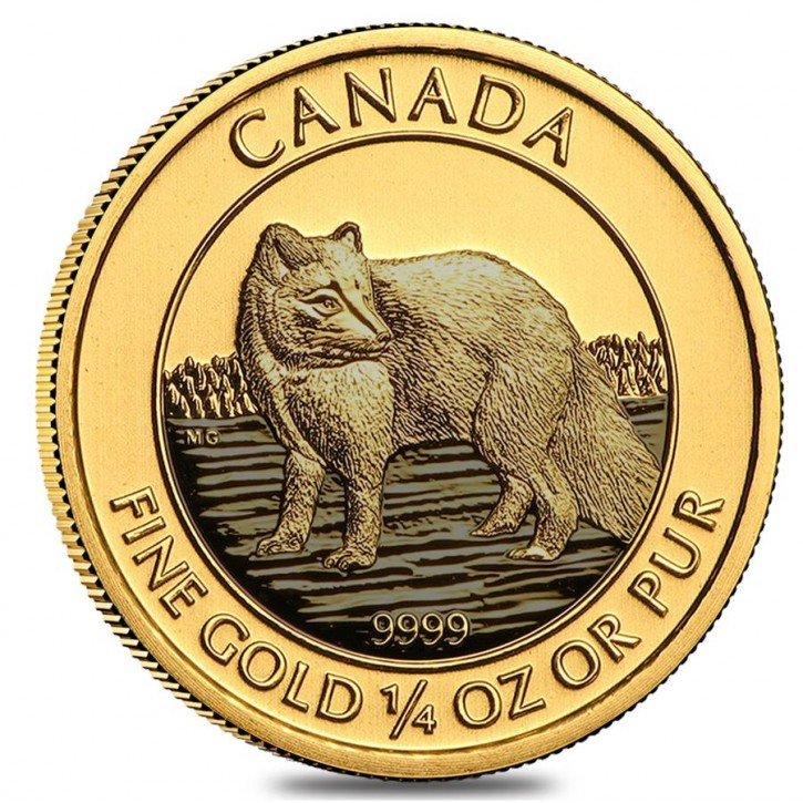 1/4 oz Gold Canada Polarfuchs in Folie ( Royal Canadian Mint )