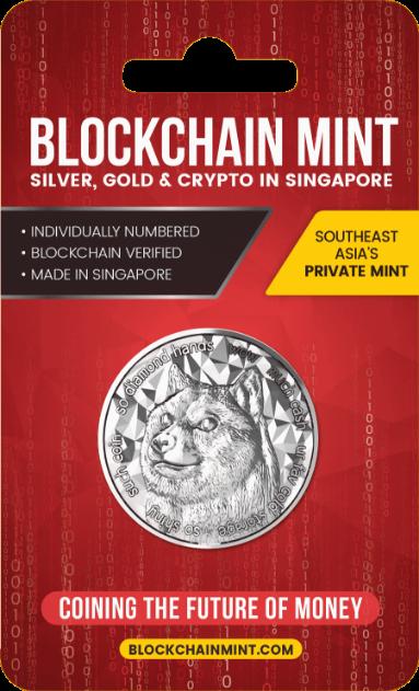 1 oz Silber Proof Dogecoins / Blockchainmint Singapore - max 10.000 ( inkl. gültiger gesetzl. Mwst )