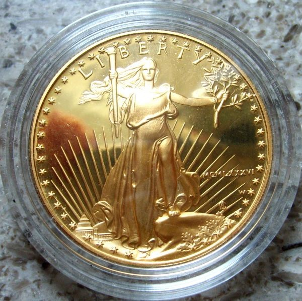 1/4 oz Gold Proof Eagle 1989 in Kapsel (entnommen aus Proof Satz  )