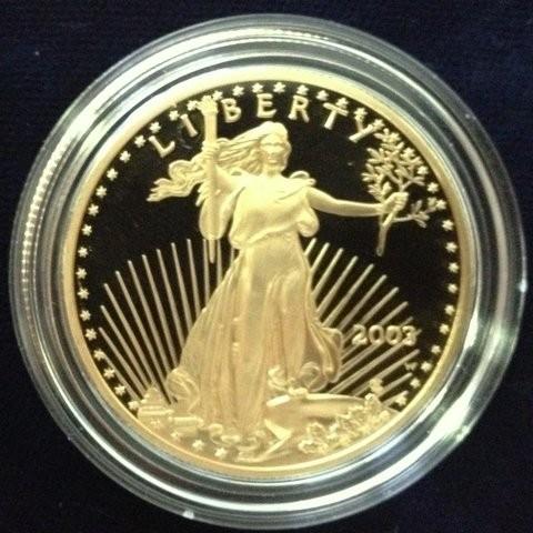 1/10 oz Proof Gold Eagle in Kapsel USA ( 1992 - entnommen aus einem 4er Coin Set )