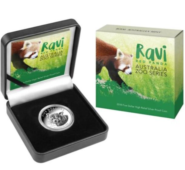 """1 oz Silber High Relief Australien """" Red Panda """" in Kapsel / Box / COA - max. 1.500 Stk ( diff.besteuert nach §25a UStG )"""