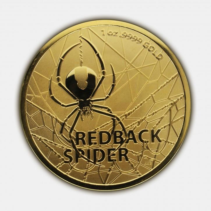 "1 oz Gold Australien Redback Spider "" Dangerous Animals Series "" in Kapsel / COA - max. 250 Stk"