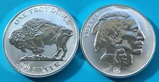 "1 oz Silber Buffalo "" Reverse Prooflike ""  ( 19% Mwst )"