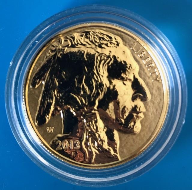 1 oz Gold Reverse Proof Buffalo 2013 in Original Kapsel / ohne Box