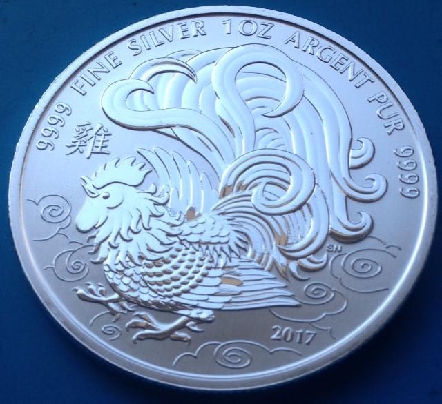 1 oz Silber Canada Lunar Rooster Royal Canadian Mint ( diff.besteuert nach §25a UStG )