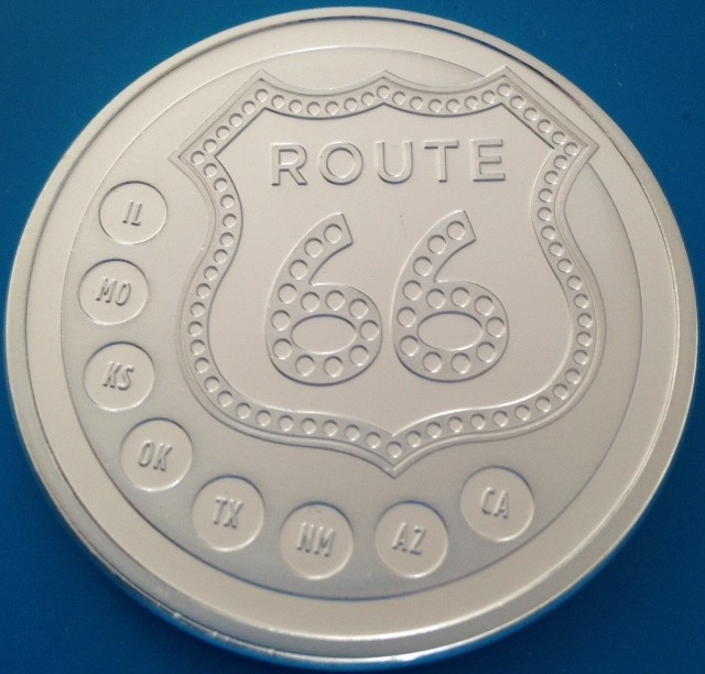 "1 oz Silber "" Route 66 ""  ( Sunshine Mint ) ( 19% Mwst )"