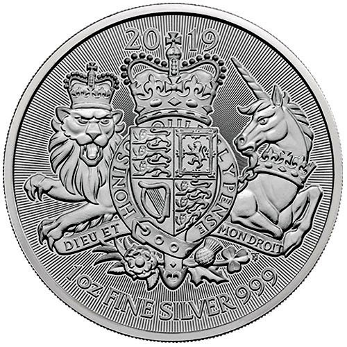 "1 oz Silber Royal Mint "" Royal Arms 2019 "" ( diff.besteuert nach §25a UStG )"