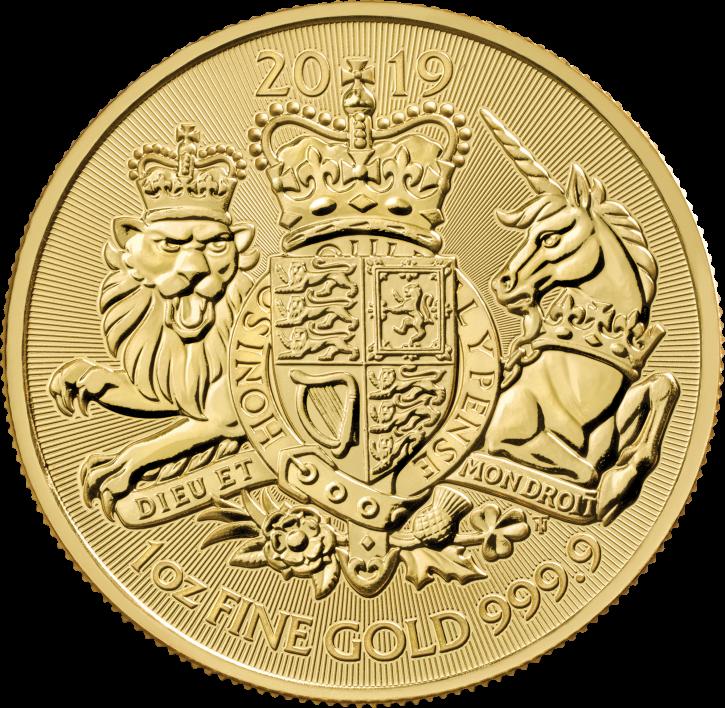 "1 oz Gold Royal Mint / United Kingdom "" Royal Arms """