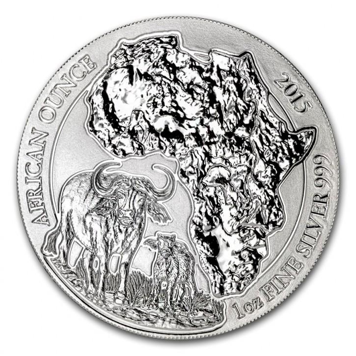 1 oz Silber Ruanda Büffel / Kaffernbüffel in Folie ( diff.besteuert nach §25a UStG )