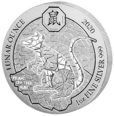1 oz Silber Ruanda 2020 Lunar Ratte / Maus ( diff.besteuert nach §25a UStG )