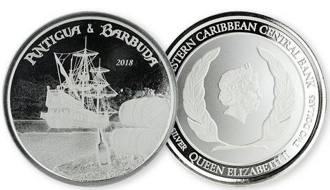 1 oz Silber Antigua & Barbuda Rum Runner Scottsdale Mint / Prooflike in Kapsel ( diff.besteuert nach §25a UStG )