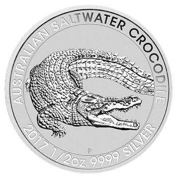 "1/2 oz Silber "" Saltwater Crocodile "" Perth Mint  ( diff.besteuert nach §25a UStG )"