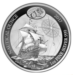 "1 oz Silber PROOF Ruanda Nautical Serie "" Santa Maria "" inkl. COA  ( 19% Mwst )"