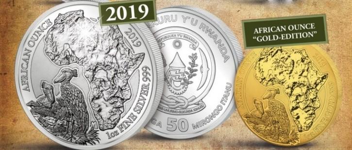 1 oz Silber Ruanda Schuhschnabel 2019 ( inkl. 19% Mwst )