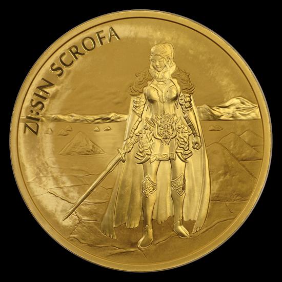 1/10 oz Gold Korea Scrofa in Card 2019 - max 5.000 Auflage