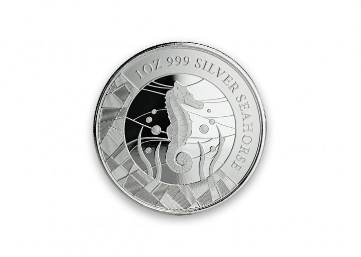 """1 oz Silber Prooflike Samoa """" Seahorse / Seepferdchen """" erste Ausgabe in Kapsel - max. Mintage 30.000 ( diff.besteuert nach §25a UStG ) - VVK"""