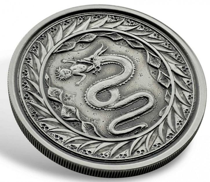 "1 oz Silber Samoa Antique Finish "" Serpent of Milan "" Scottsdale Mint / in Kapsel - max 2.000 ( diff.besteuert nach §25a UStG )"