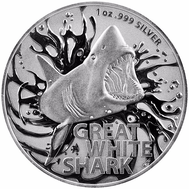 "1 oz Silber Australien Great White Shark 2021 "" Dangerous Animals Series "" in Kapsel ( diff.besteuert nach §25a UStG )"