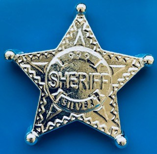 """5 oz Silber Monarch Metals Ultra High Relief """" Sheriff Stern """" - ( 19% Mwst )"""