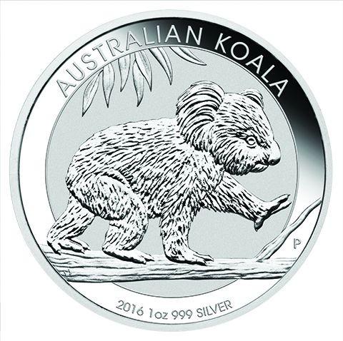 1 oz Silber Koala 2016 ( diff.besteuert nach §25a UStG )