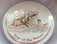 1 oz Silber 2008 Lunar II Maus ( diff.besteuert nach §25a UStG )
