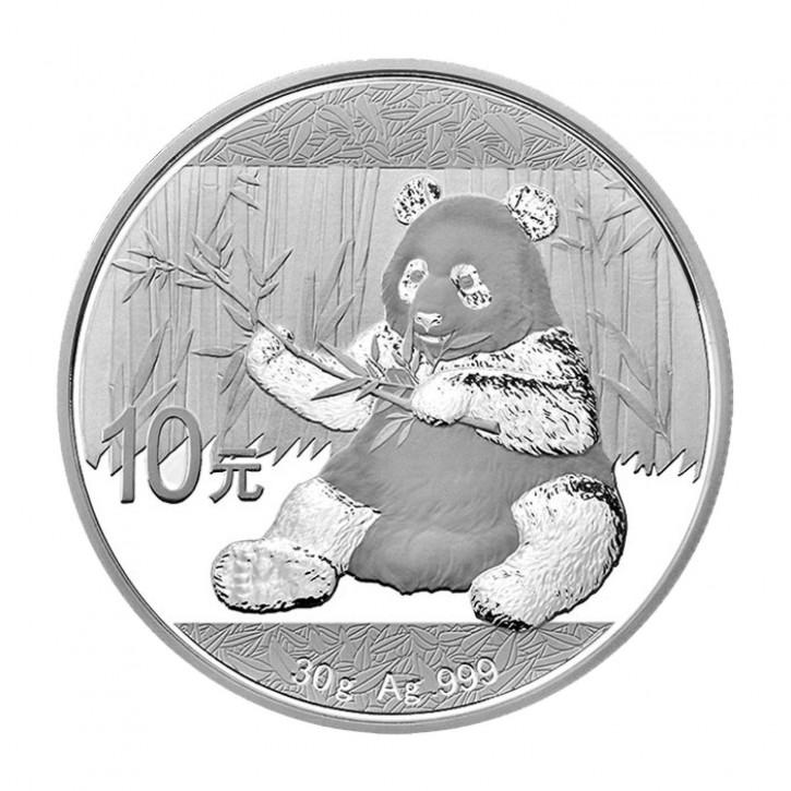 30 Gramm Silber China Panda 2017 - 10 Yuan  ( diff.besteuert nach §25a UStG )