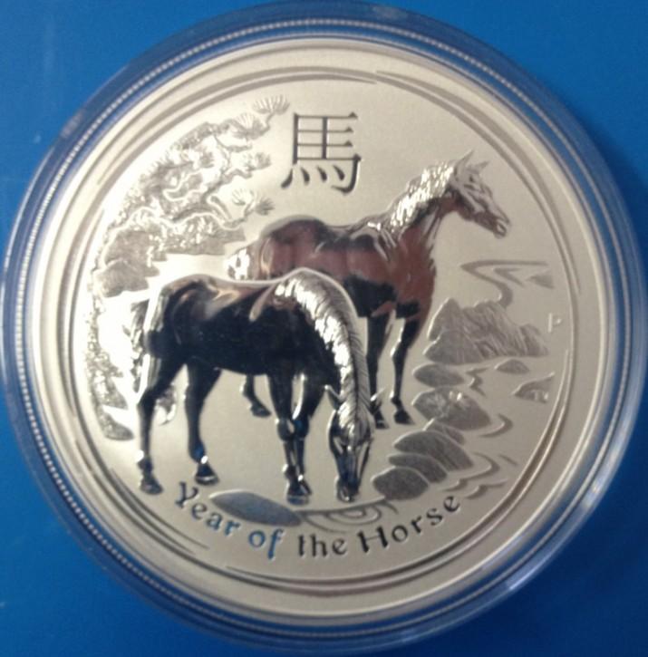 5 oz Silber 2014 Lunar Pferd ( diff.besteuert nach §25a UStG )