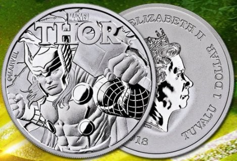 "1 oz Silber Perth Mint "" Thor - Marvel Comics "" in Kapsel ( diff.besteuert nach §25a UStG )"