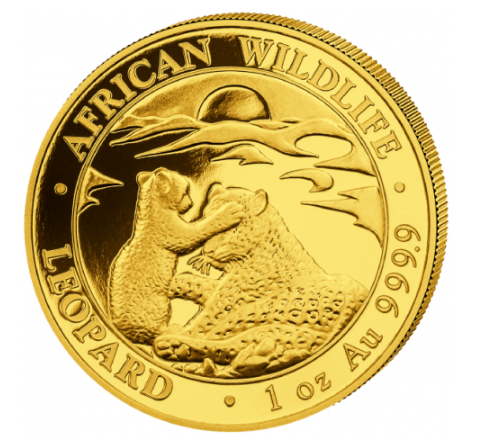 1 oz Gold Somalia Leopard Somalia 2019 - max 1.0000