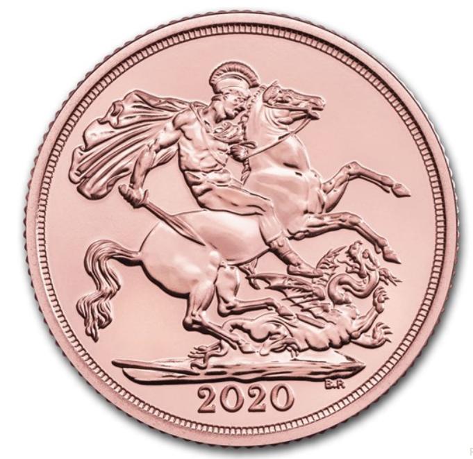 2020 Sovereign 1 Pfund GB ( 7,32 Gramm Gold fein )