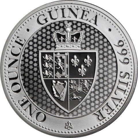 "1 oz Silber "" Spade Guinea 2019 "" St. Helena geprägt bei East India Company ( diff.besteuert nach §25a UStG )"